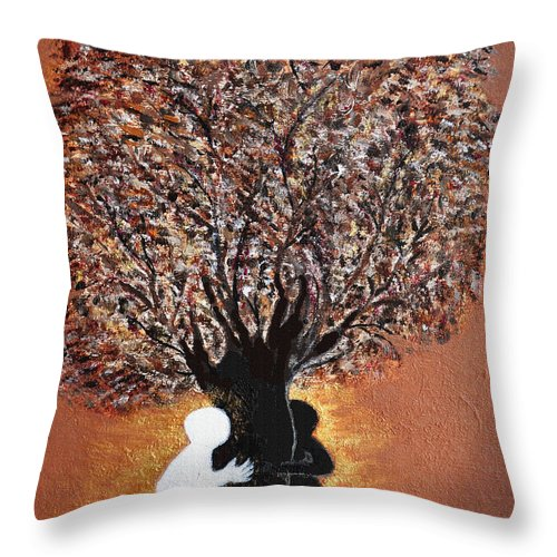 Tree Of Life Throw Pillow featuring the painting Tree of Life by Donna Proctor