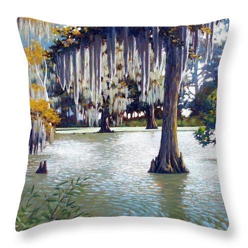 Water Painting Throw Pillow featuring the painting Morgan Shores by Kevin Lawrence Leveque