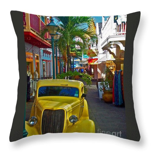 St. Martin Throw Pillow featuring the photograph Nice Ride by Debbi Granruth