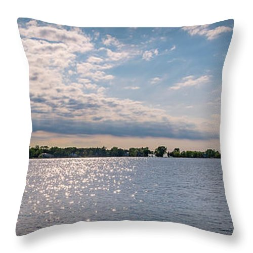 Panorama Throw Pillow featuring the photograph 20-0607-0057 by Anthony Roma