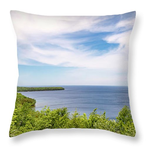 Panorama Throw Pillow featuring the photograph 20-0608-0089 by Anthony Roma