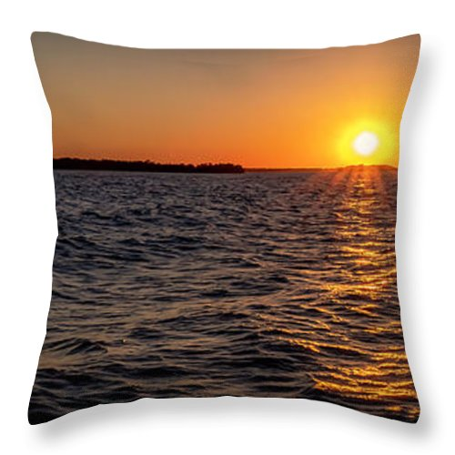 Sunset Throw Pillow featuring the photograph 20-0608-0175 Pan by Anthony Roma