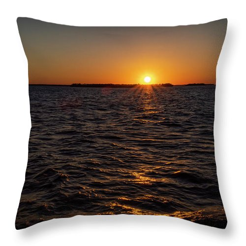 Sunset Throw Pillow featuring the photograph 20-0608-0178 by Anthony Roma