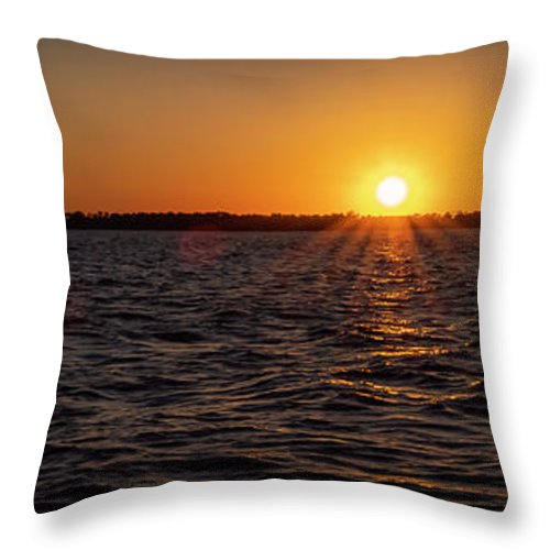 Sunset Throw Pillow featuring the photograph 20-0608-0178 Pan by Anthony Roma