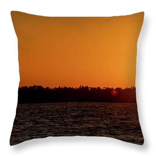 Sunset Throw Pillow featuring the photograph 20-0608-0179 Pan by Anthony Roma