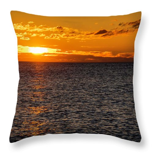 Sunrise Throw Pillow featuring the photograph 20-0611-0375 by Anthony Roma