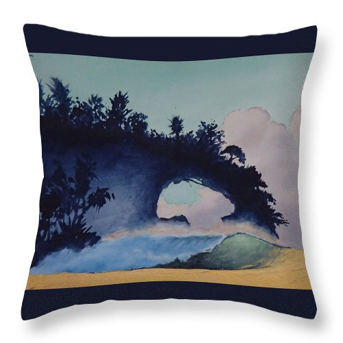 Ocean Throw Pillow featuring the painting Untitled 4 by Philip Fleischer