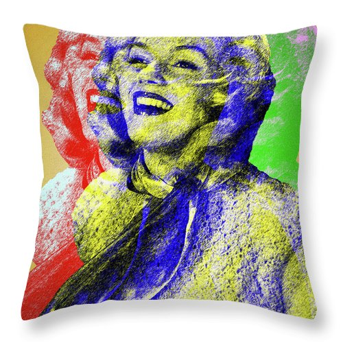 Marilyn Throw Pillow featuring the digital art Marilyn Monroe by Stars on Art
