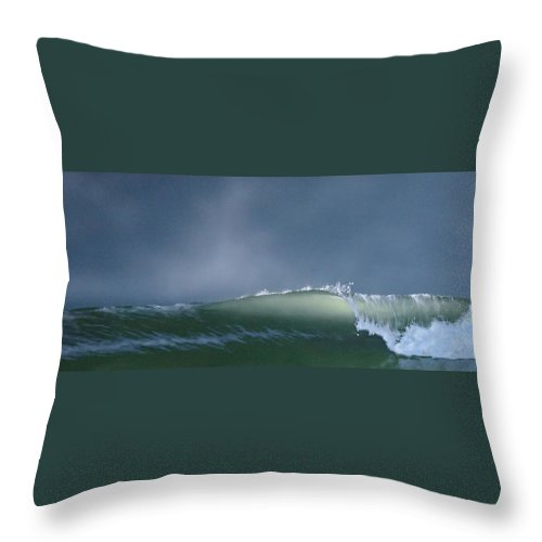 Wave Throw Pillow featuring the painting Untitled 7 by Philip Fleischer
