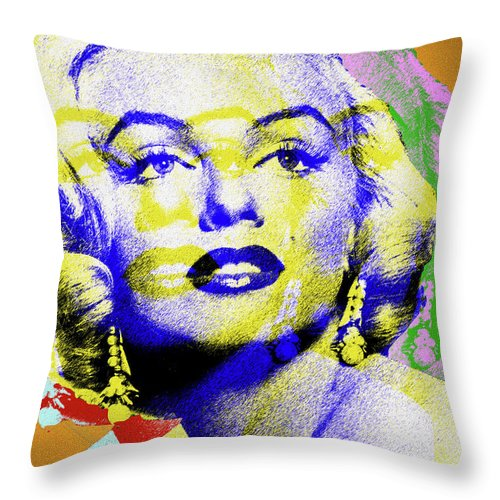 Marilyn Throw Pillow featuring the digital art Marilyn Monroe by Stars on Art