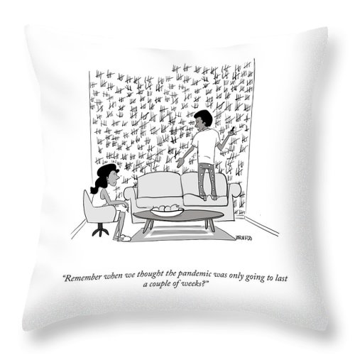 A Couple Of Weeks Throw Pillow