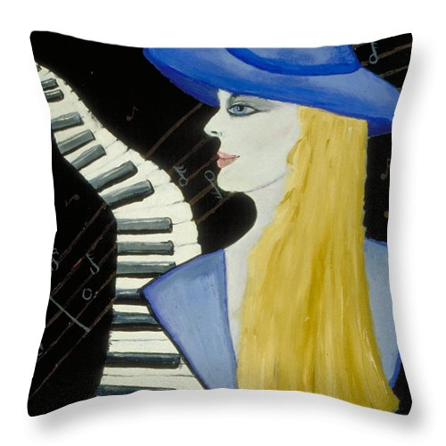 Jandrel Throw Pillow featuring the painting A Fab Babe by J Andrel