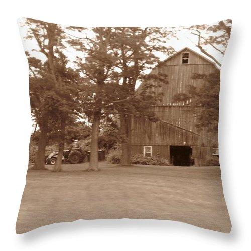 Farm Throw Pillow featuring the photograph A Farmers Life by Rhonda Barrett