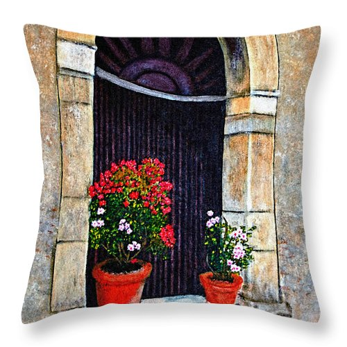 Italy Throw Pillow featuring the painting A Taste Of Italy by Donna Proctor
