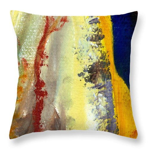 Rustic Throw Pillow featuring the painting Abstract Color Study ll by Michelle Calkins