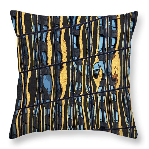 Abstract Throw Pillow featuring the photograph Abstract reflection 1 by Tony Cordoza