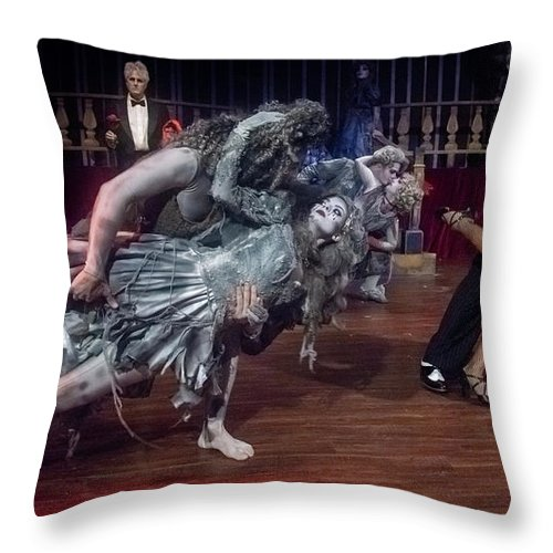 Adams Family Throw Pillow featuring the photograph Adams Family Dance by Alan D Smith