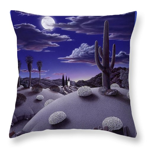 Desert Throw Pillow featuring the painting After the Rain by Snake Jagger