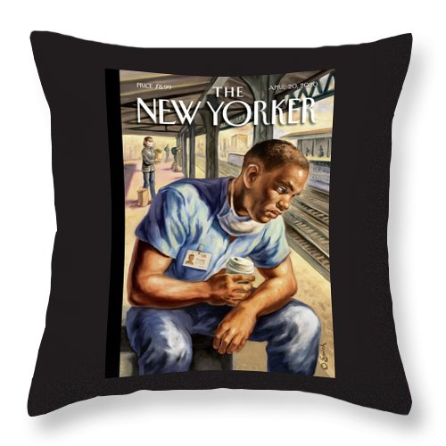 After The Shift Throw Pillow