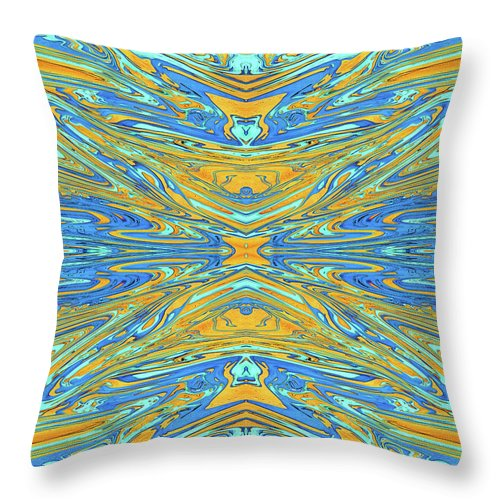 Abstract Throw Pillow featuring the digital art Ancient Goblet by Jack Entropy