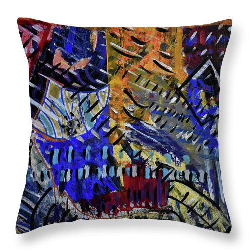 Colorado Throw Pillow featuring the painting And Then It Rained by Pam Roth O'Mara