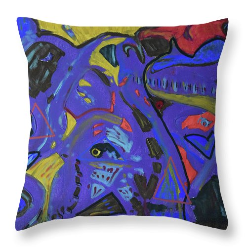 Colorado Throw Pillow featuring the painting Apparition by Pam Roth O'Mara