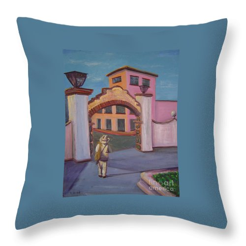 Mexico Throw Pillow featuring the painting Arco de Jiutepec by Lilibeth Andre