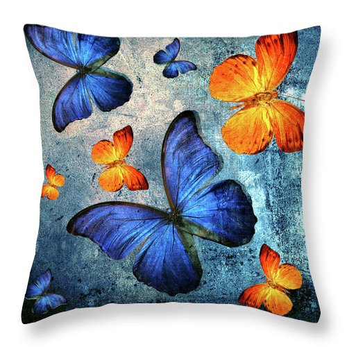 Butterfly Throw Pillow For Sale By Mark Ashkenazi