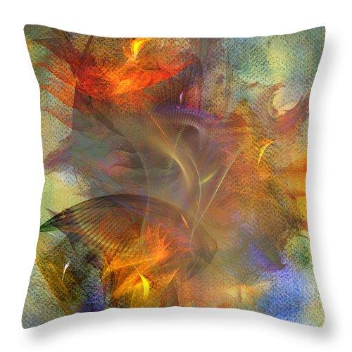 Autumn Ablaze Throw Pillow featuring the digital art Autumn Ablaze by John Robert Beck