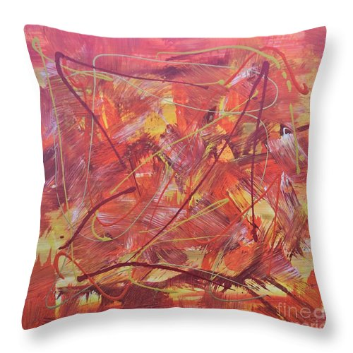 Acrylic Throw Pillow featuring the painting Autumn Dreams by Jimmy Clark