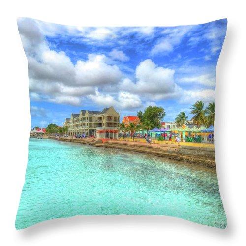 Bonaire Throw Pillow featuring the photograph Beautiful Bonaire by Debbi Granruth