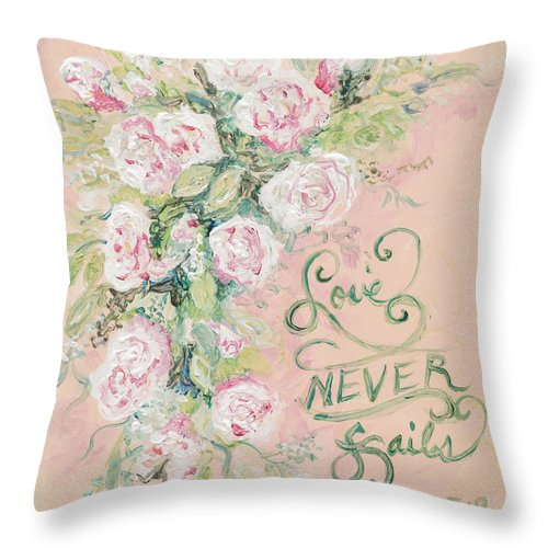 Beloved Throw Pillow featuring the painting Beloved by Nadine Rippelmeyer