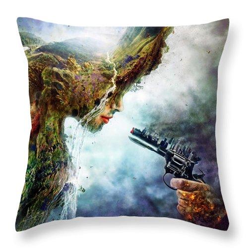 Betrayal Throw Pillow featuring the digital art Betrayal by Mario Sanchez Nevado