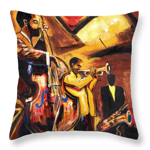 Everett Spruill Throw Pillow featuring the painting Birth Of Cool by Everett Spruill