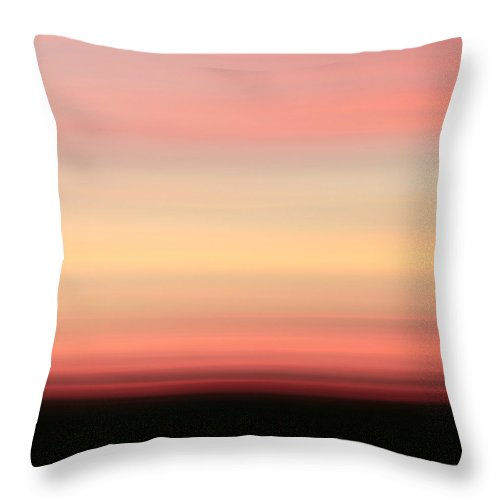 Abstract Throw Pillow featuring the photograph Blush by Laura Fasulo