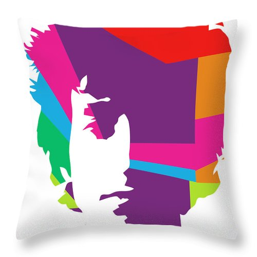 Bob Dylan Throw Pillow featuring the digital art Bob Dylan 1 POP ART by Ahmad Nusyirwan