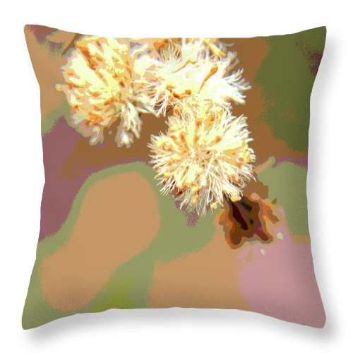 Abstract Throw Pillow featuring the photograph Bright Flower Abstract by Holly Morris