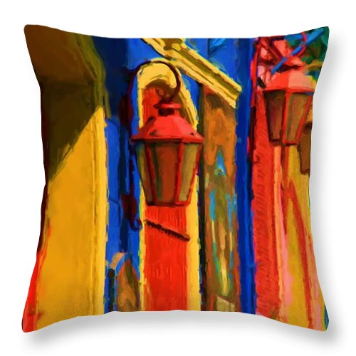 Buenos Aires Throw Pillow featuring the mixed media Buenos Aires by Asbjorn Lonvig