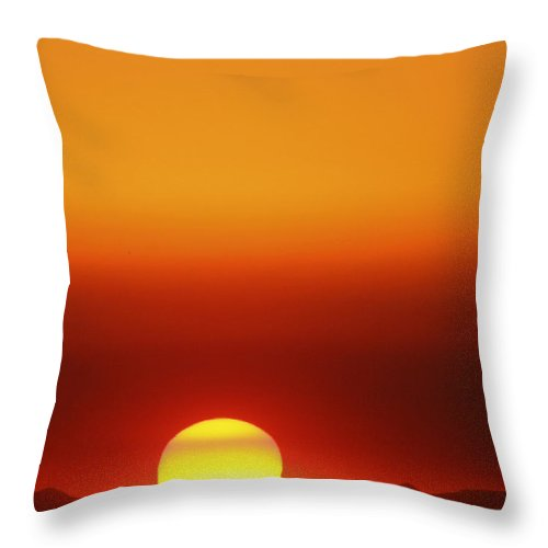 Catalina Sunset Throw Pillow featuring the photograph Catalina Sun by Andre Aleksis