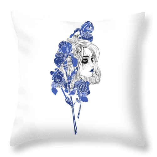 Digital Art Throw Pillow featuring the digital art China girl by Elly Provolo