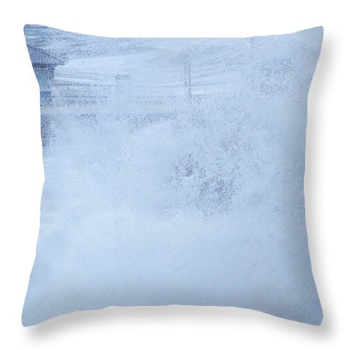 Waves Throw Pillow featuring the photograph Close one by Christopher Rowlands