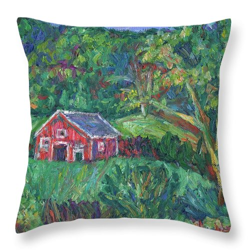 Rural Throw Pillow featuring the painting Clover Hollow in Giles County by Kendall Kessler