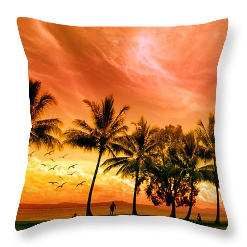 Landscape Throw Pillow featuring the photograph Coconut Grove by Holly Kempe