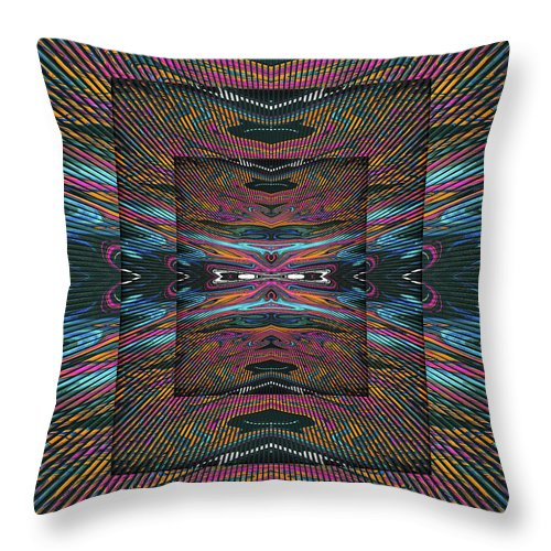 Abstract Throw Pillow featuring the digital art Control Center by Jack Entropy