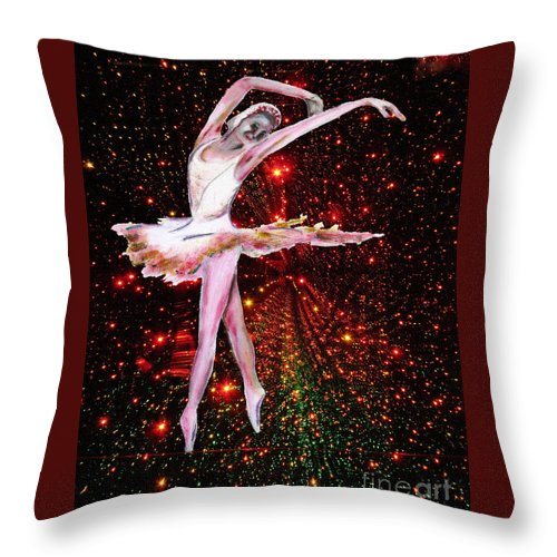 Females Throw Pillow featuring the painting Cosmic Dancer by Tom Conway