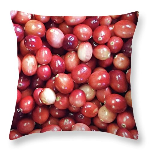 Cranberries Throw Pillow featuring the photograph Cranberries by Trevor Slauenwhite