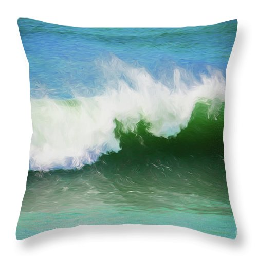 Surf Throw Pillow featuring the photograph Crashing surf by Sheila Smart Fine Art Photography