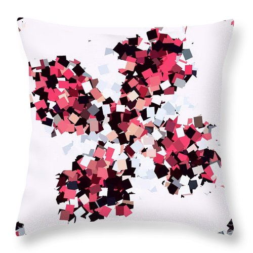 Digital Art Throw Pillow featuring the digital art Crystal Butterfly Pale Pink by Tracey Lee Cassin