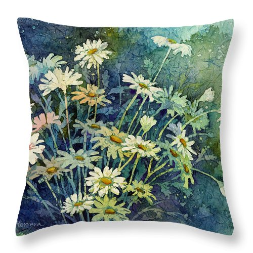 Daisy Throw Pillow featuring the painting Daisy Bouquet by Hailey E Herrera