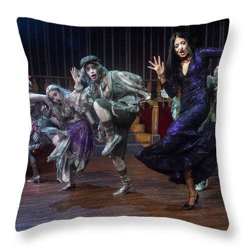 Adams Family Throw Pillow featuring the photograph Dance With The Relatives by Alan D Smith